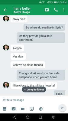 scammer harry beller widower  orthopedic doctor  syria
