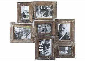 Bilderrahmen Braun Holz : bilderrahmen altholz antik collage shabby landhaus mit 7 fotorahmen braun ~ Markanthonyermac.com Haus und Dekorationen