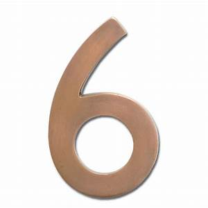 five inch floating house number antique copper 6 With copper house numbers and letters