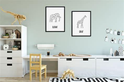 bolcom kinderkamer poster set dieren lijnen