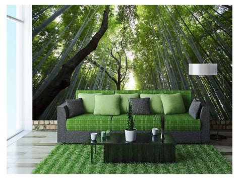 Wall26 Nature Landscape Of Bamboos Removable Wall Mural