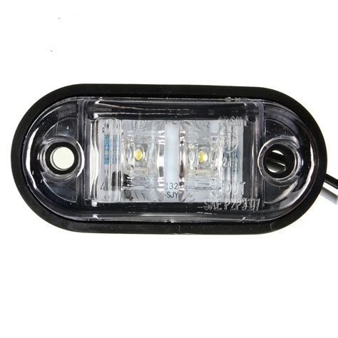 12v 24v 2 led side marker blinker lights l bulb for
