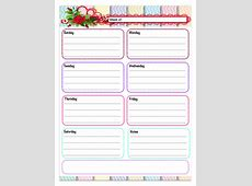 Free Printable Weekly Planners 5 Designs