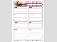 Free Printable Weekly Calendars, Planners, Schedules