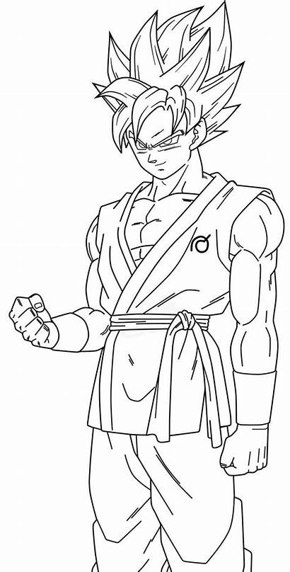 Goku Coloring Pages Dragonball Nice