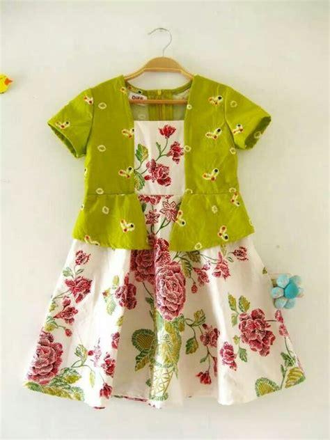 19 model baju batik anak perempuan modern dan terbaru