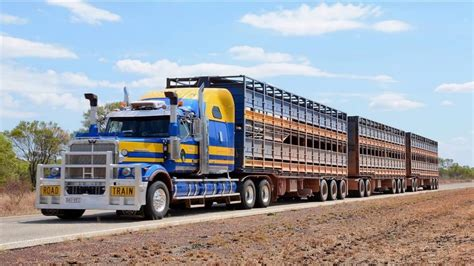 australian road trains australia   road