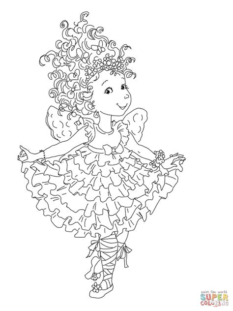 Fancy Nancy Curtseying Coloring Page Free Printable