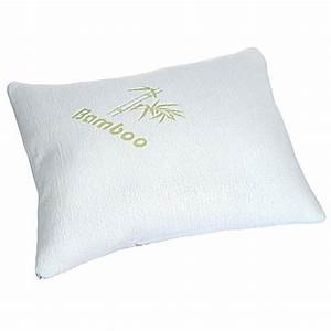 Remedy memory foam pillow with removable cover in white for Bamboo pillow bed bath and beyond