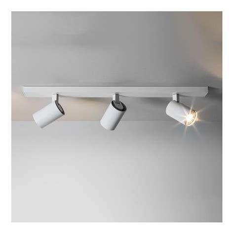 astro 6144 ascoli 3 light wall spotlight white