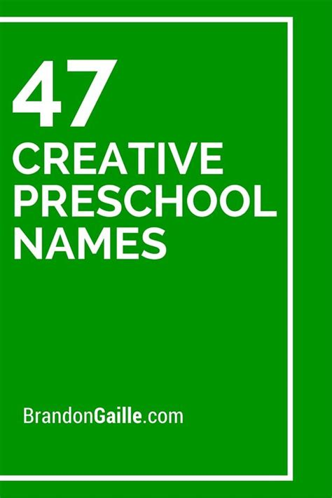 list of 47 creative preschool names creative preschool 538 | e82eff1c2e3261ce870fc1867e48d64d
