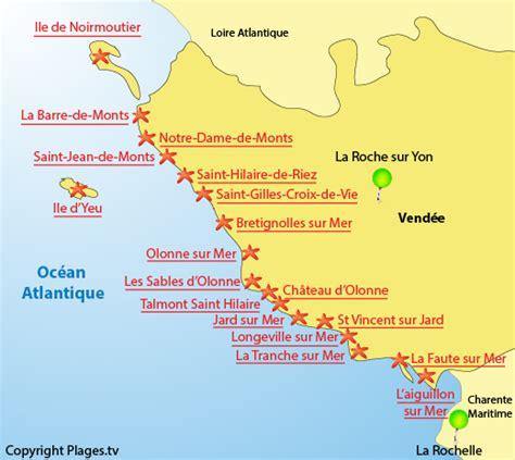 Carte De Plage Atlantique by Plus Belles Plages Vend 233 E Pays De La Loire