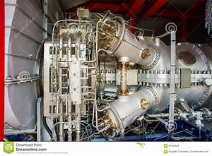 Natural Gas Engines At Cogeneration Power Plant Stock ...