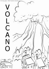Volcano Coloring Sheets Miracle Timeless Illustration sketch template