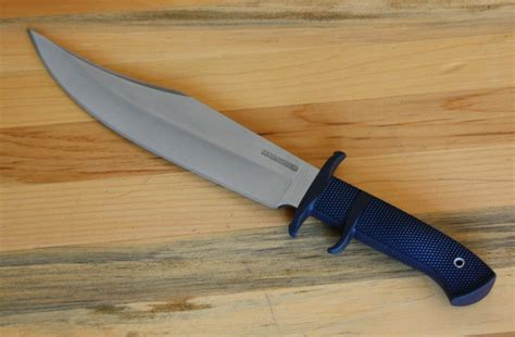 specialty kitchen knives cold steel marauder bowie fixed blade 9 in satin plain