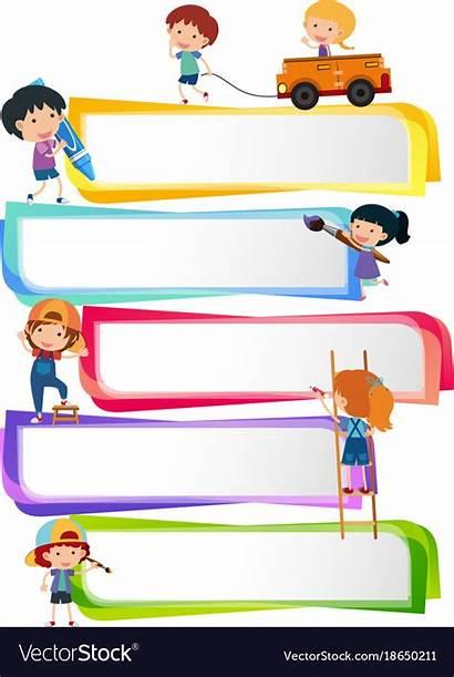 Label Templates Vector Vectorstock Happy Background Powerpoint