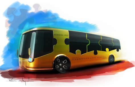 school bus concept  susovan mazumder  coroflotcom