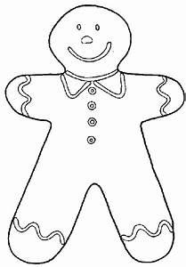 Gingerbread Boy Coloring Page - AZ Coloring Pages