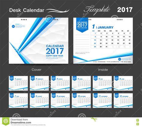 set desk calendar  template design cover desk