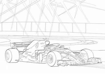 Mercedes Coloring Benz Sketches Race Colouring Printable