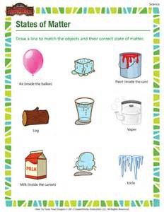 Science States of Matter Worksheets