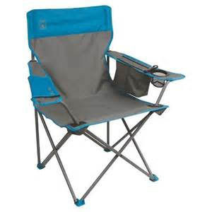 coleman 174 cooler quad chair grey blue target