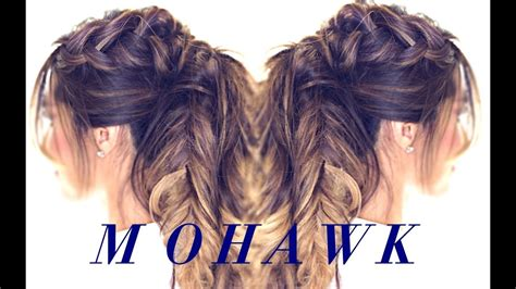 Mohawk Pony Braid Hairstyle 👸| Cute Hairstyles For Medium