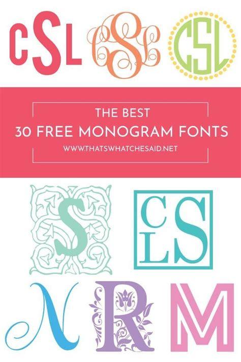 monogram fonts cricut monogram font