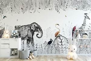 Au Fil Des Couleurs Papier Peint : dans ma chambre tropicale plumetis magazine ~ Melissatoandfro.com Idées de Décoration