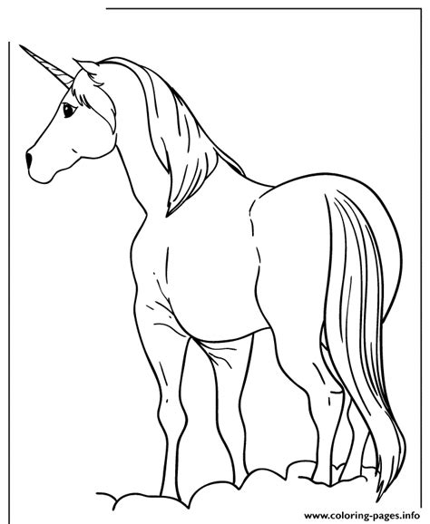 unicorn horse coloring pages printable