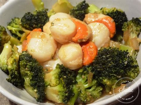 cuisiner des brocolis frais brocolis et jacques sautés au gingembre la