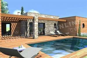 plan maison contemporaine toit plat recherche google With plan de maison cubique 16 booa constructeur francais nouvelle generation