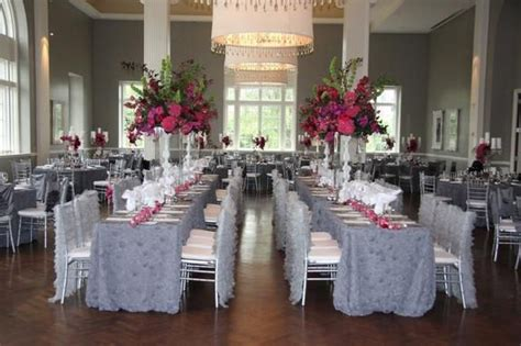 gray and fuschia wedding linen effects minneapolis mn