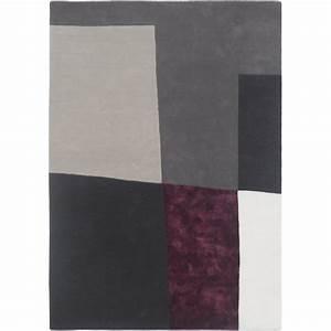 Tapis gris et prune idees de decoration interieure for Tapis prune et gris