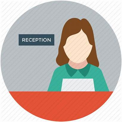Reception Icon Receptionist Manager Female Lady Hotel