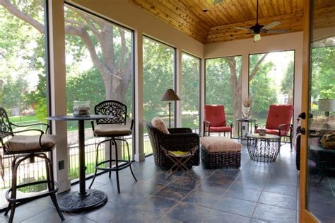 screenedenclosed patio traditional porch dallas