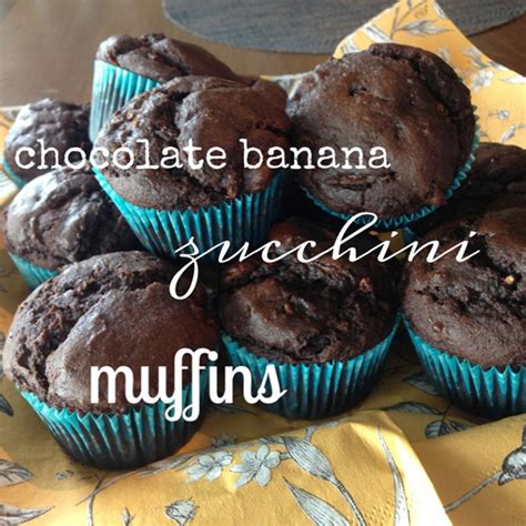 recipe gluten  chocolate banana zucchini muffins