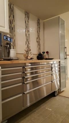 kitchen cabinets tools tool chests modern kitchens with more functionality 3268