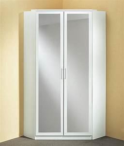 Placard D Angle Ikea : armoire d 39 angle avec miroir click blanc ~ Dode.kayakingforconservation.com Idées de Décoration