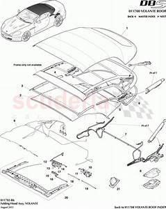 Aston Martin Dbs V12 Folding Hood Assembly  Volante  Parts