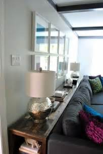 Sofa Console Table Behind Couch