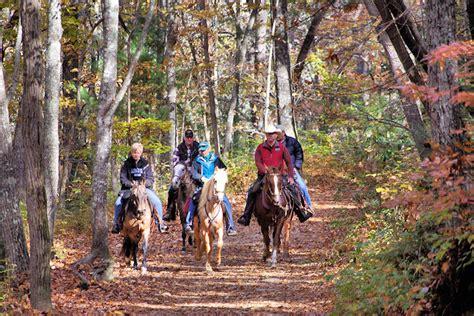 riding horseback asheville trails