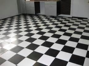 black tile flooring for look
