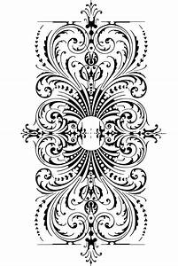 Free vintage clip art images: Free calligraphic ornaments