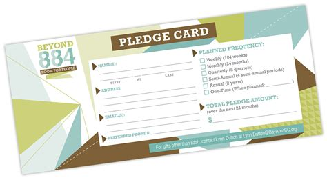 pledge card pledge card template for church image collections template design ideas