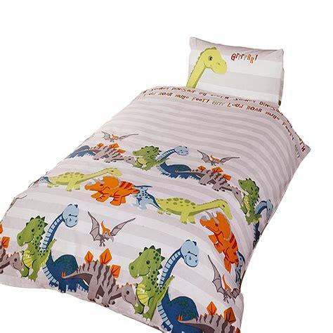 piumone per bambini completo copri piumone letto singolo con dinosauri