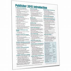 Publisher 2013 Quick Reference  Cheat Sheet  Guide Card