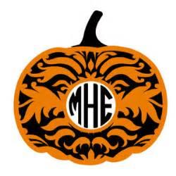 create monogram initials silhouette design store view design 147407 pumpkin