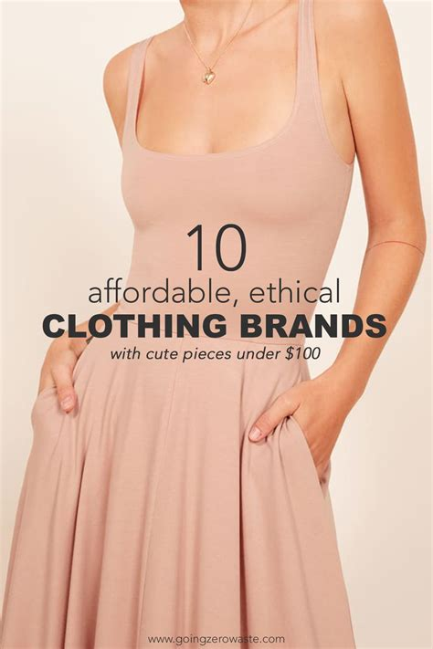 affordable ethical clothing brands  waste