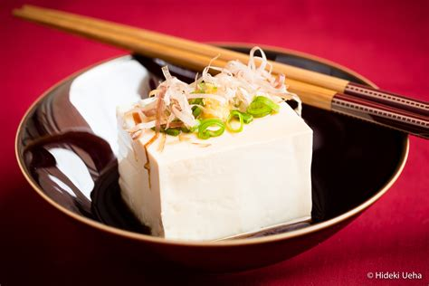 tofu cuisine hiyayakko traditional japanese cold tofu bebe okazu